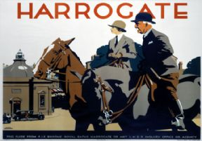 Harrogate, Yorkshire. LNER Vintage Travel Poster by Frank Newbould. 1930